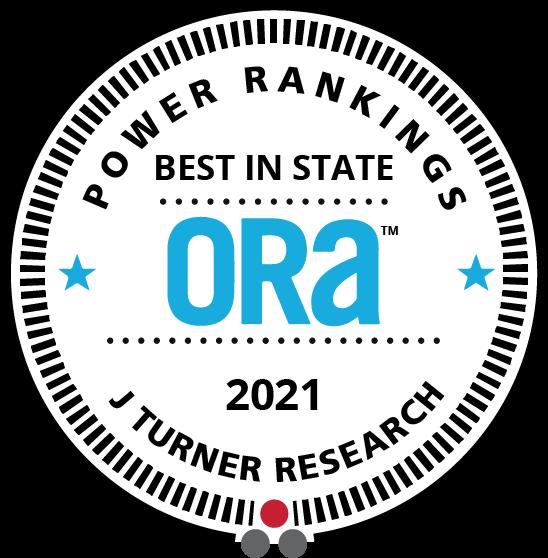 Power Rankings | Best in State | ORA | 2021 J Turner Research